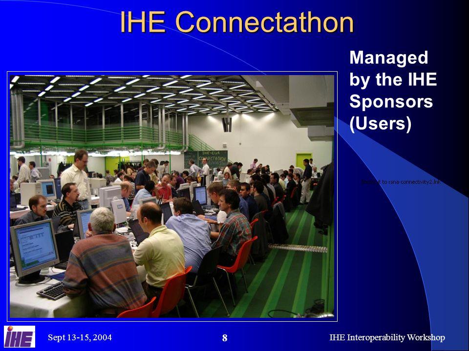 Sept 13-15, 2004IHE Interoperability Workshop 9