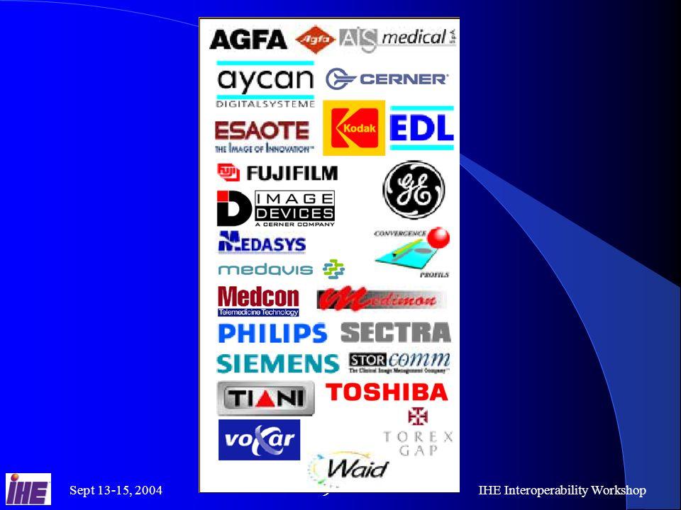 Sept 13-15, 2004IHE Interoperability Workshop 10