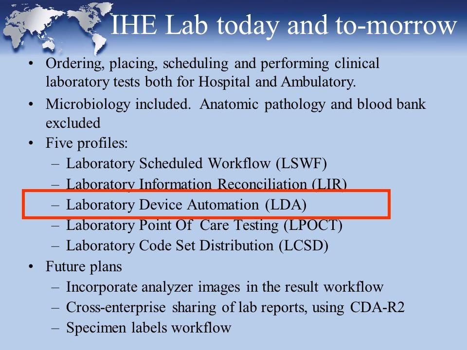 Laboratory Code Set Distribution Standard Interactions based on HL7 V2.5, Master Files (chapter 8).