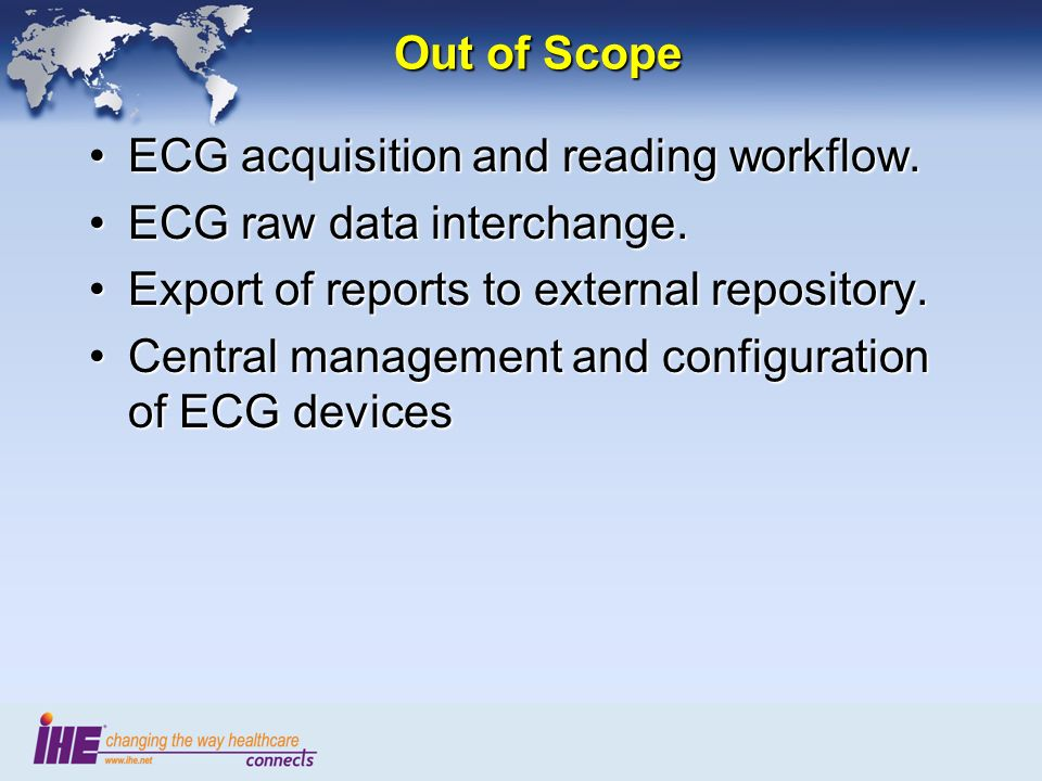 Out of Scope ECG acquisition and reading workflow.ECG acquisition and reading workflow.