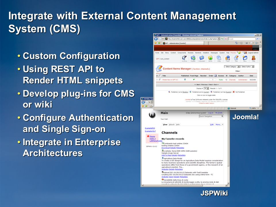 JSPWiki Integrate with External Content Management System (CMS) Custom ConfigurationCustom Configuration Using REST API to Render HTML snippetsUsing R