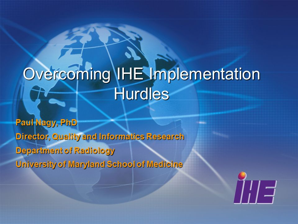 Obstacles you will need to hurdle Top ten excuses for not doing IHE from hospitals