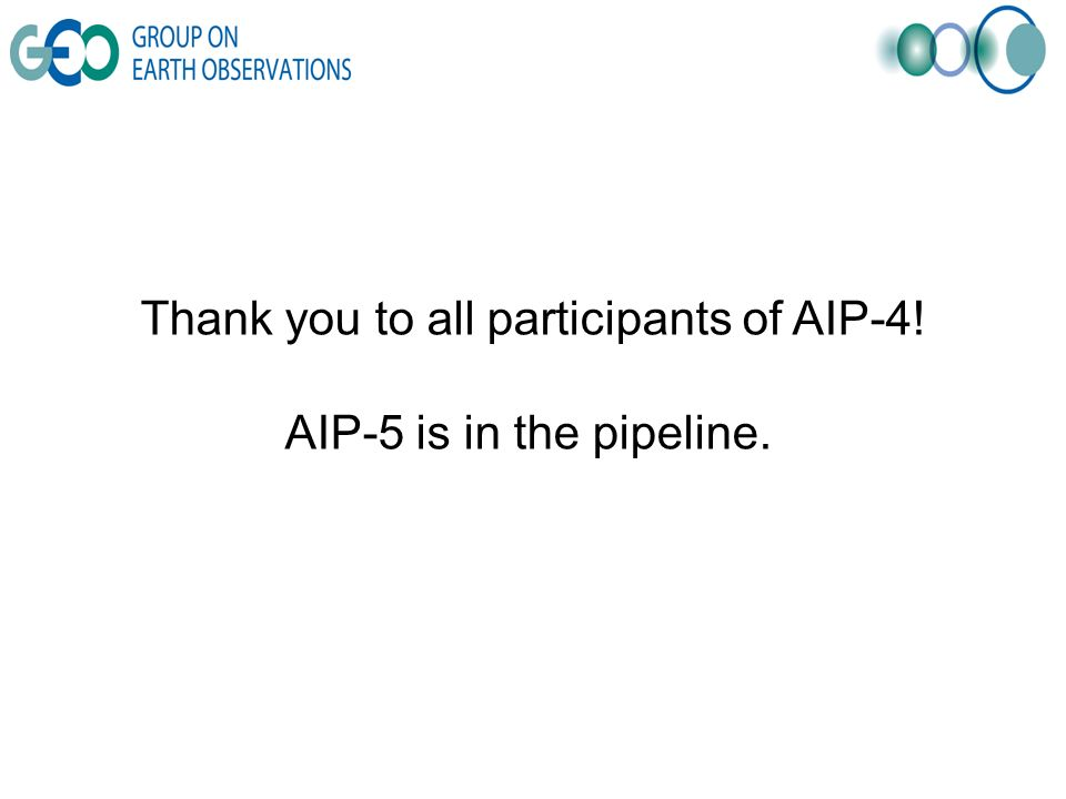 Thank you to all participants of AIP-4! AIP-5 is in the pipeline.