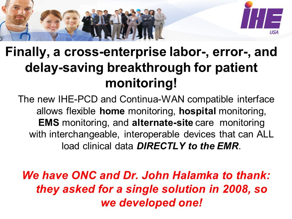 Finally, a cross-enterprise labor-, error-, and delay-saving breakthrough for patient monitoring.