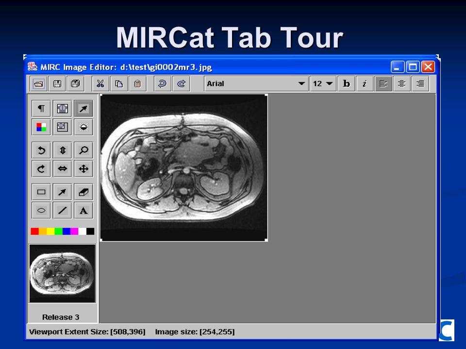 MIRCat Tab Tour