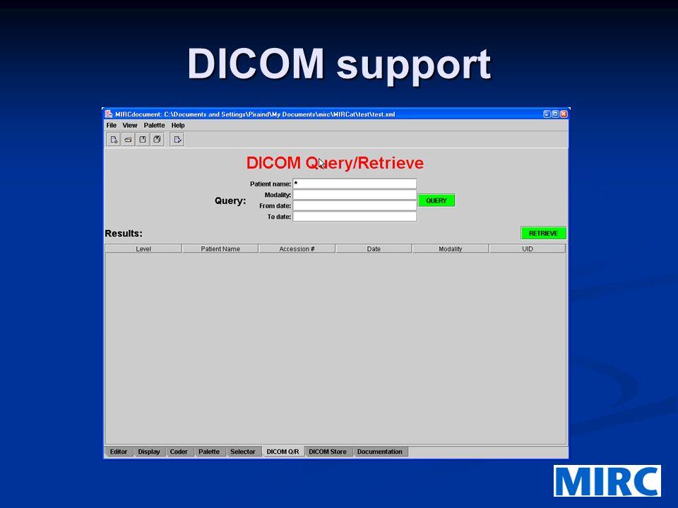 DICOM support