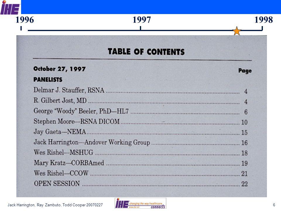 Jack Harrington, Ray Zambuto, Todd Cooper 200702276 199619971998
