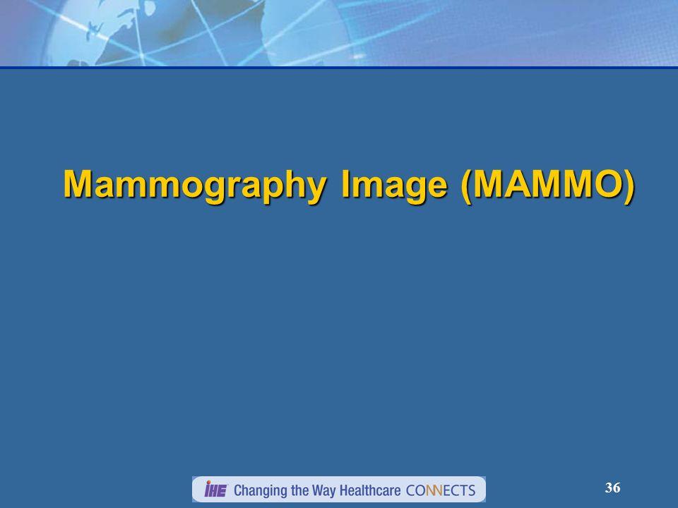 36 Mammography Image (MAMMO)