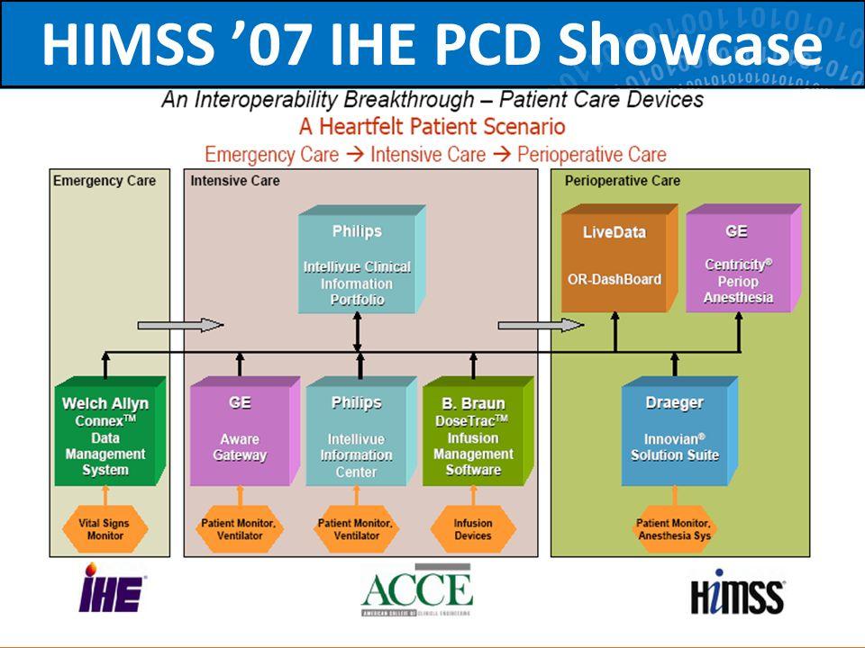 68 HIMSS 07 IHE PCD Showcase