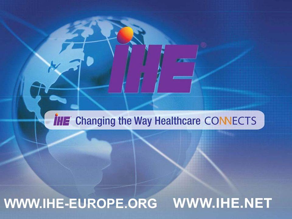 25 WWW.IHE-EUROPE.ORG