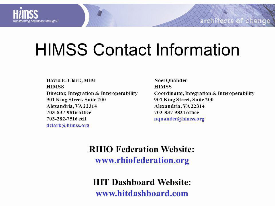 HIMSS Contact Information David E.