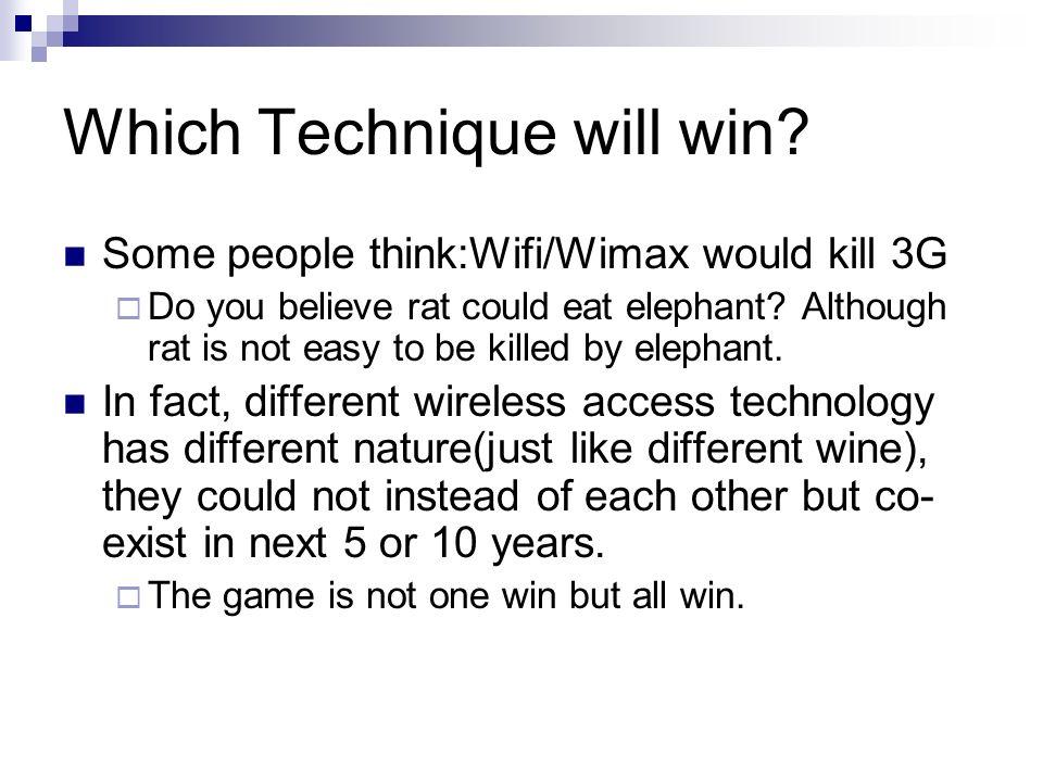 Which Technique will win.