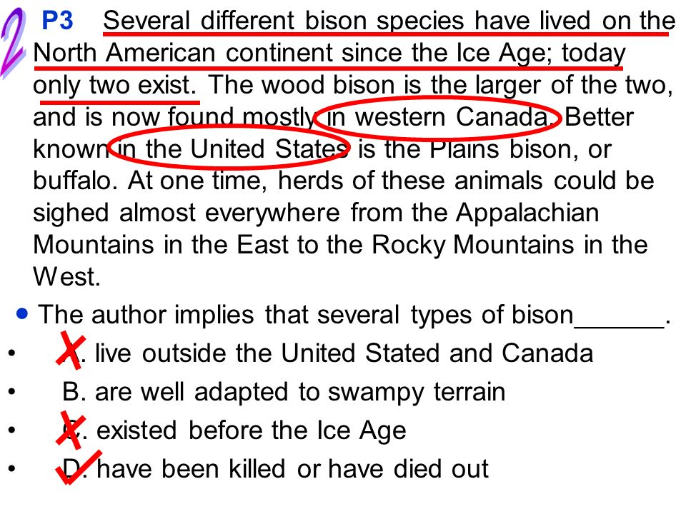 Several different bison species have lived on the North American continent since the Ice Age; today only two exist. The wood bison is the larger of th