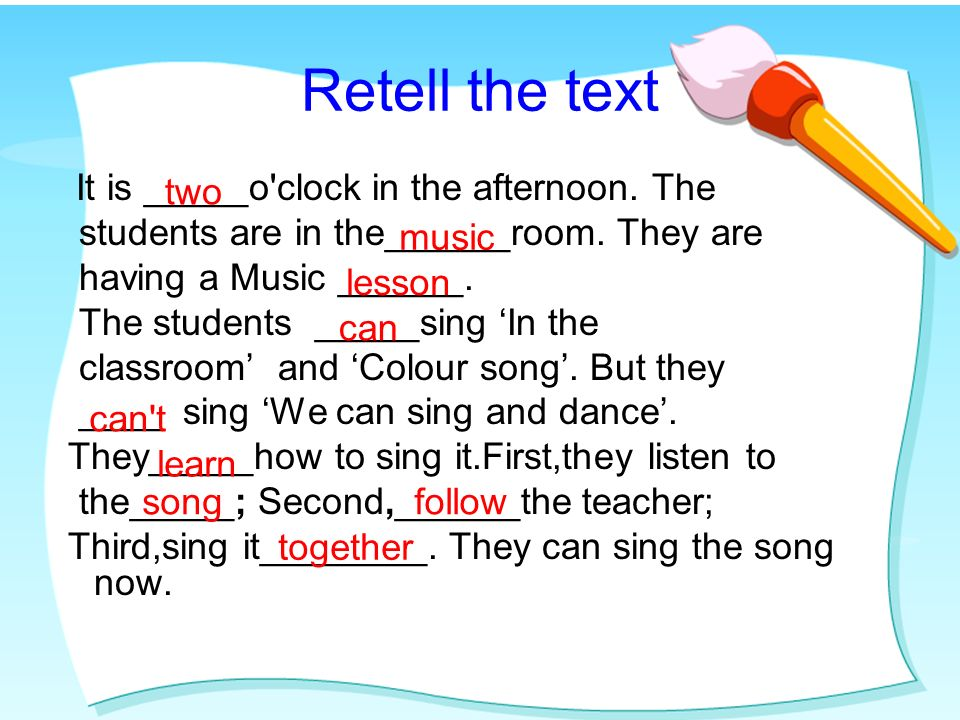 . 1. 2. Learning tip3 : Read and circle. How do they learn? 1.Listen to the song,please 2.Now,follow me,please. 3.Good.lets sing it together