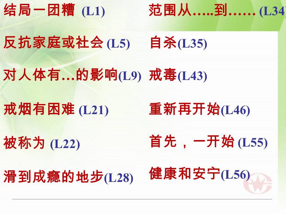 (L1) (L5) … (L9) (L21) (L22) (L28) ….. …… (L34) (L35) (L43) (L46) (L55) (L56)