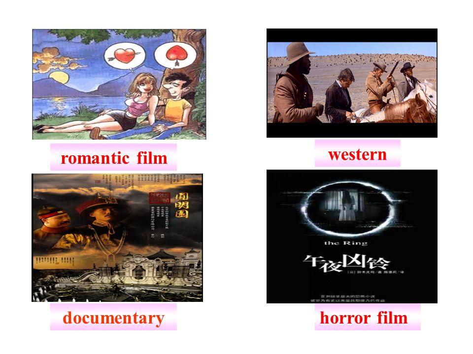 romantic film western horror filmdocumentary