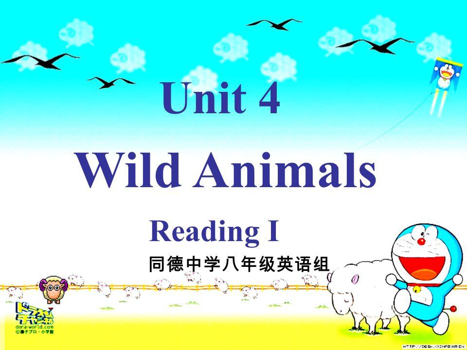 Unit 4 Wild Animals Reading I