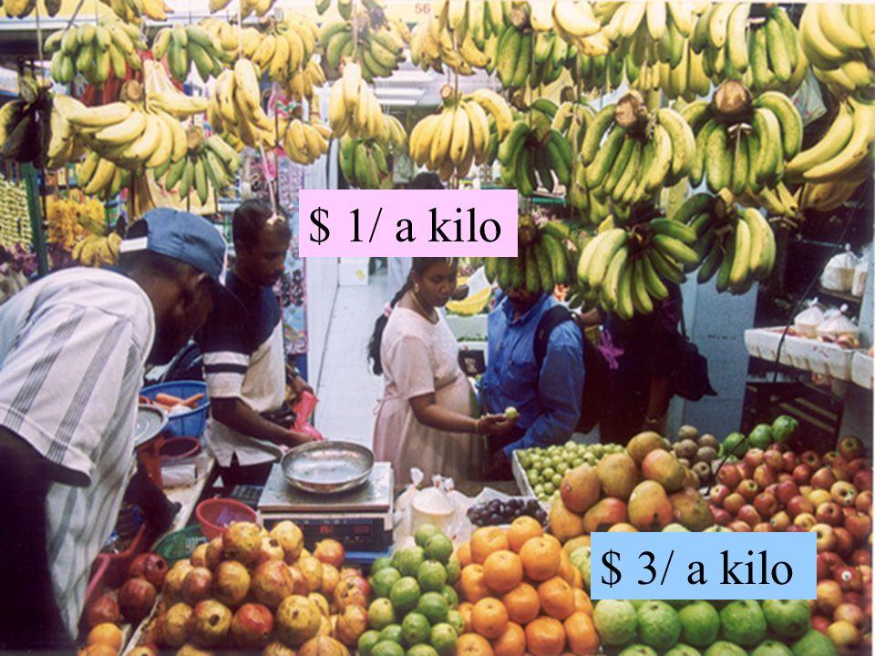 $ 3/ a kilo $ 1/ a kilo