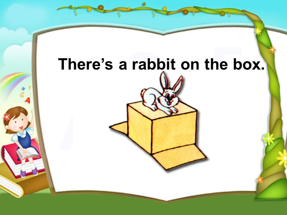 Theres a rabbit on the box.