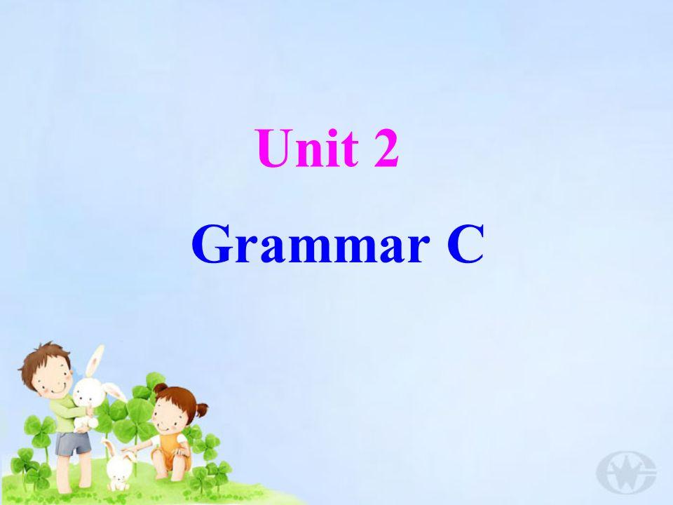 Unit 2 Grammar C