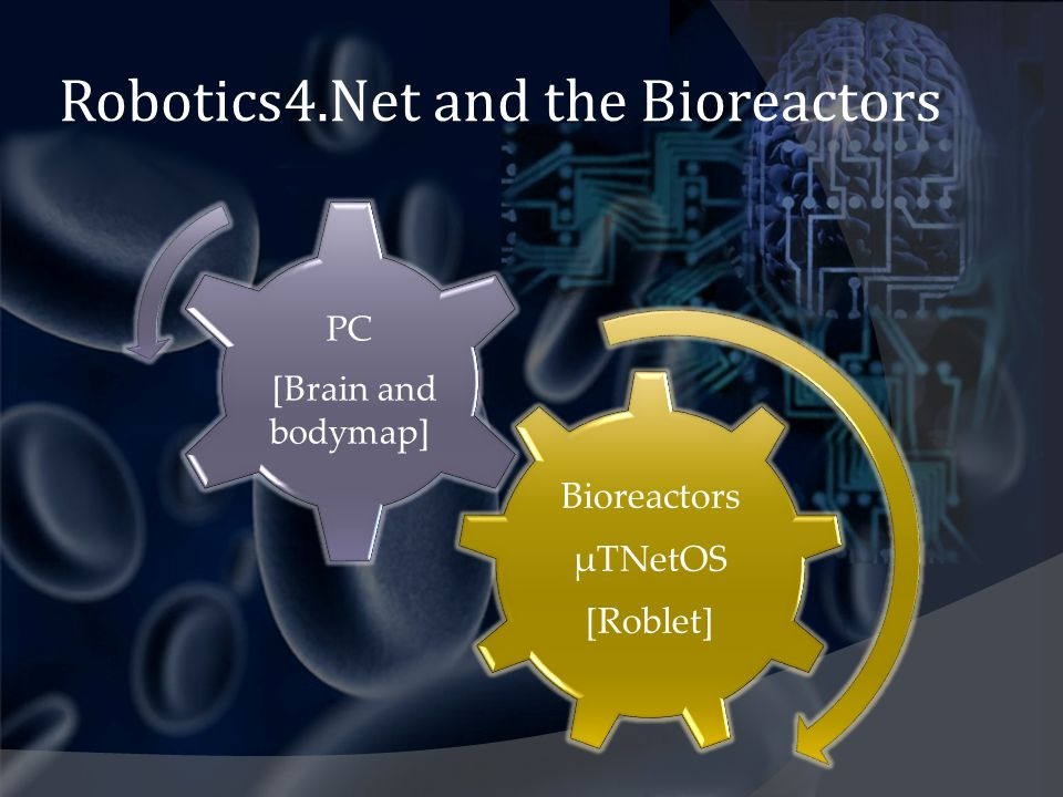 Robotics4.Net and the Bioreactors Bioreactors µTNetOS [Roblet] PC [Brain and bodymap]