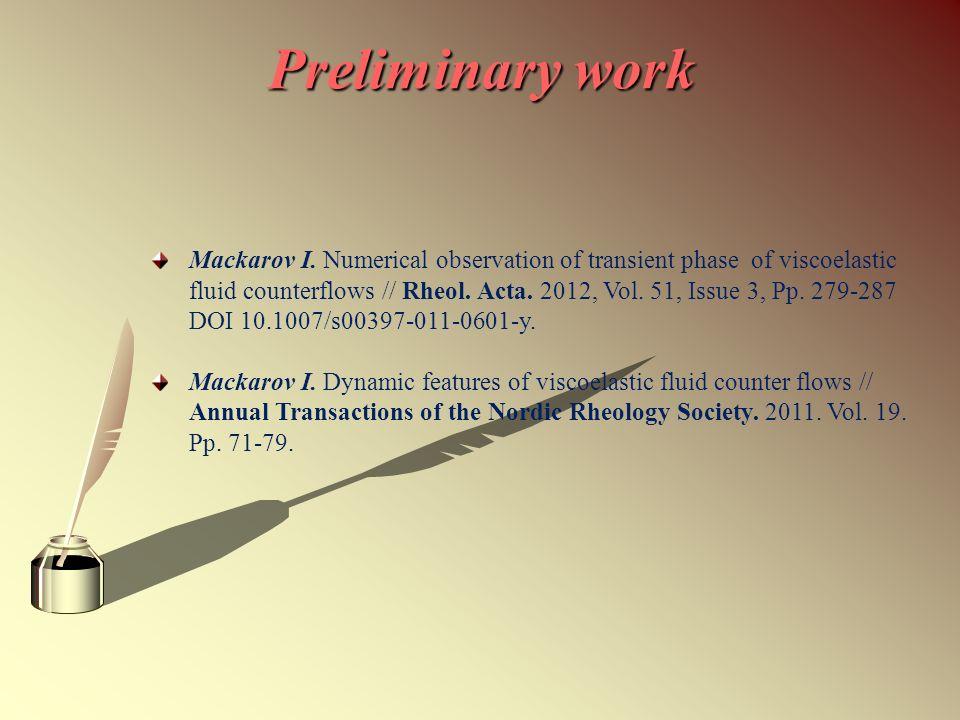 Preliminary work Mackarov I.