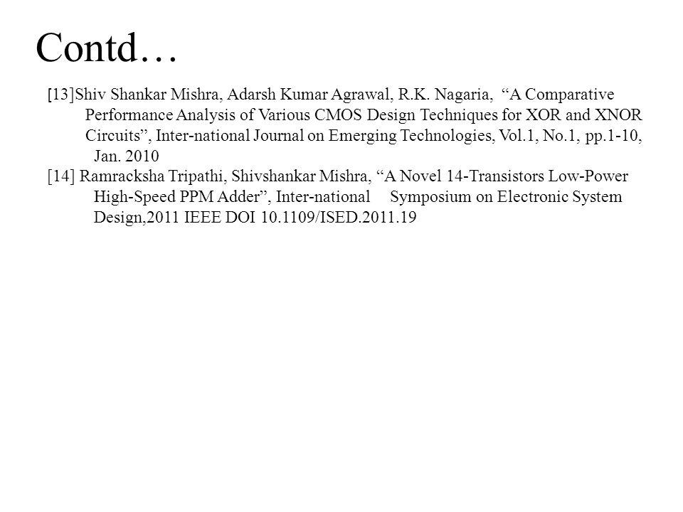 Contd… [ 13]Shiv Shankar Mishra, Adarsh Kumar Agrawal, R.K.
