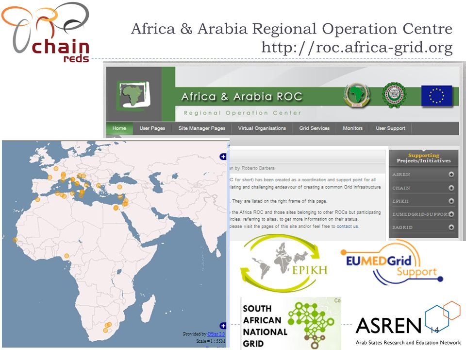 14 Africa & Arabia Regional Operation Centre http://roc.africa-grid.org 14