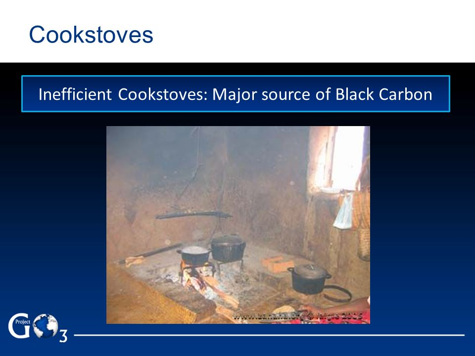 Cookstoves Inefficient Cookstoves: Major source of Black Carbon
