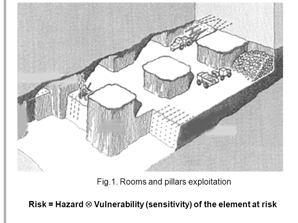 Risk = Hazard Vulnerability (sensitivity) of the element at risk Fig.1.