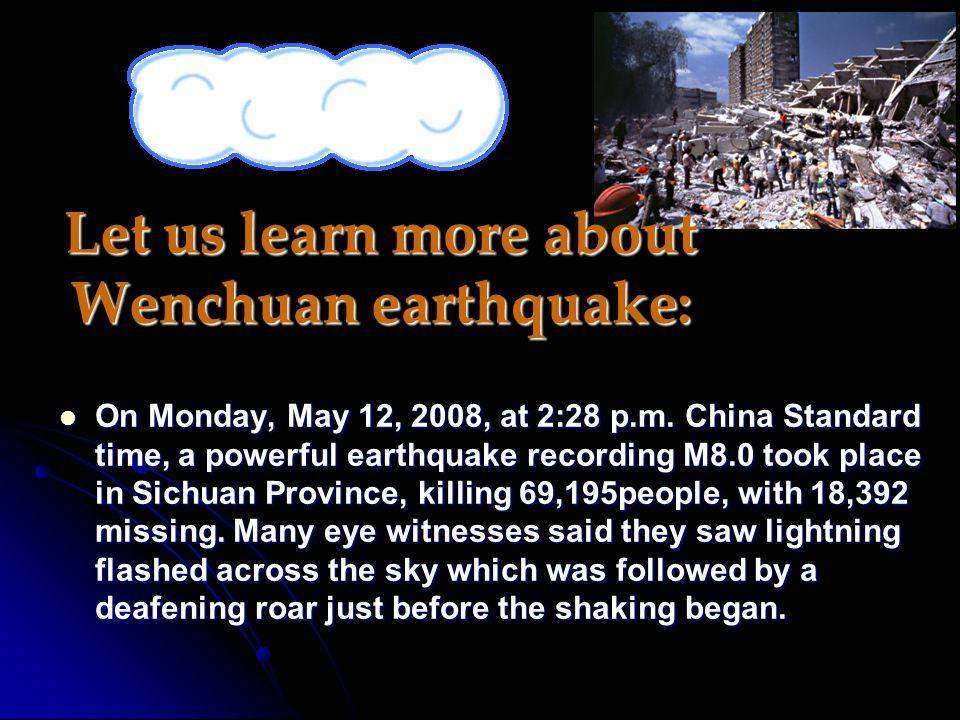 earthquake Natural disasters ? Warming up