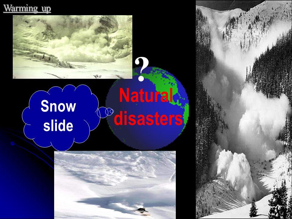 Typhoon hurricane Natural disasters ? Warming up