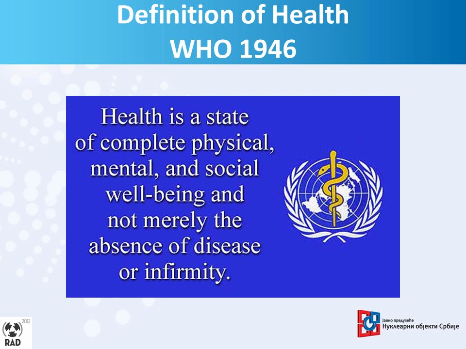 Definition of Health WHO 1946