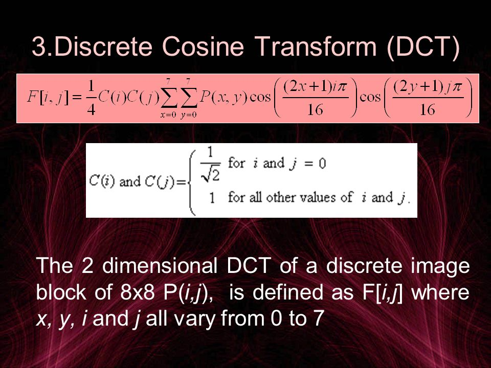 DCT-DWT Decision For masking of the resultant image where level of masking depends on the type of image (eg.