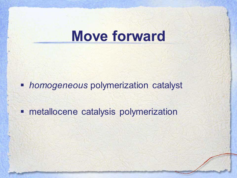 Move forward homogeneous polymerization catalyst metallocene catalysis polymerization