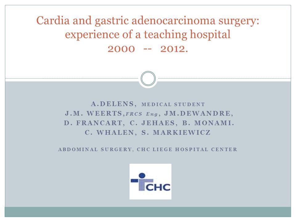 A.DELENS, MEDICAL STUDENT J.M. WEERTS, FRCS Eng, JM.DEWANDRE, D.