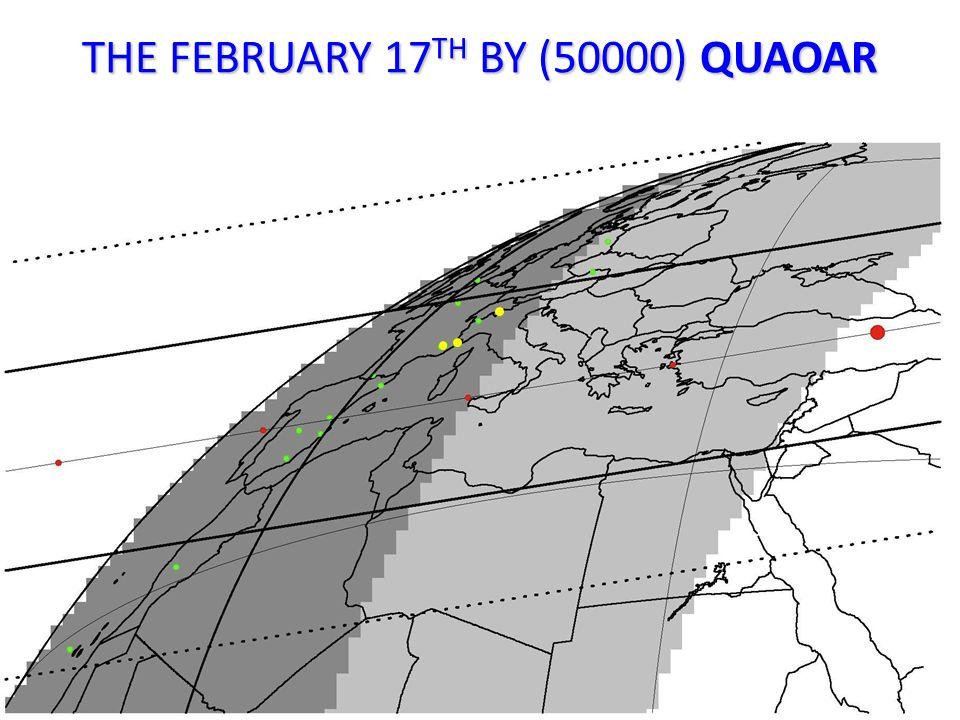 THE FEBRUARY 17 TH BY (50000) QUAOAR