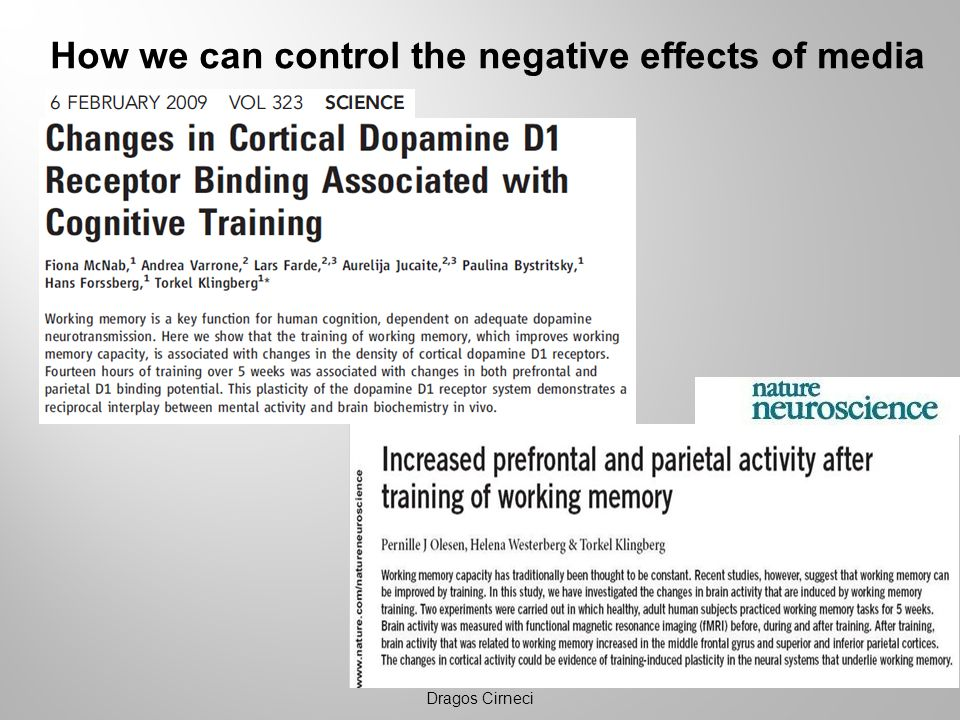 How we can control the negative effects of media Dragos Cirneci