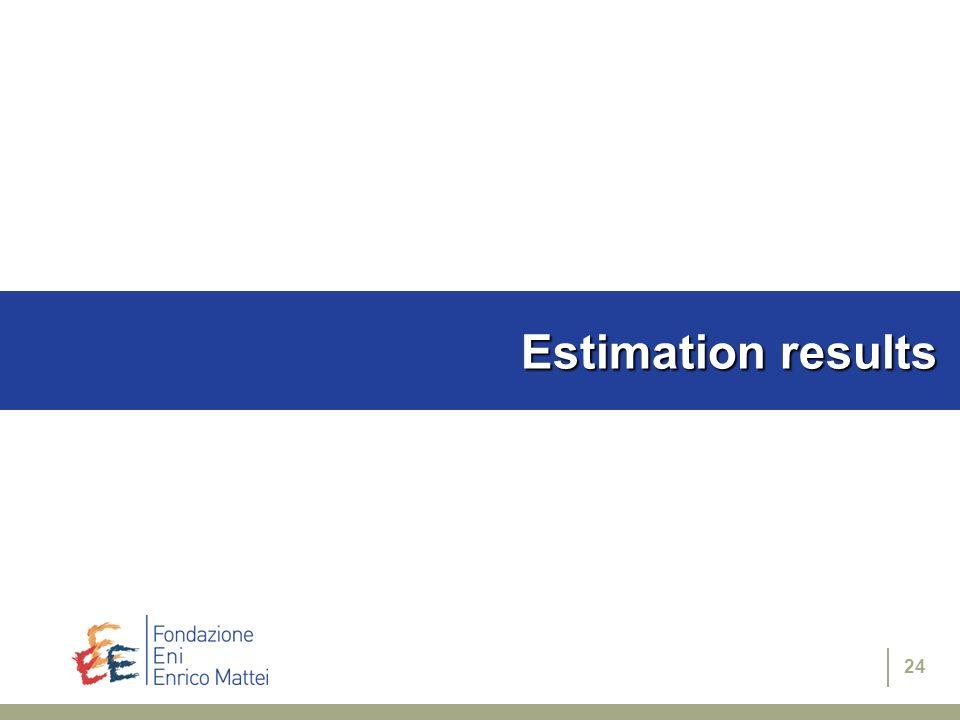 24 Estimation results