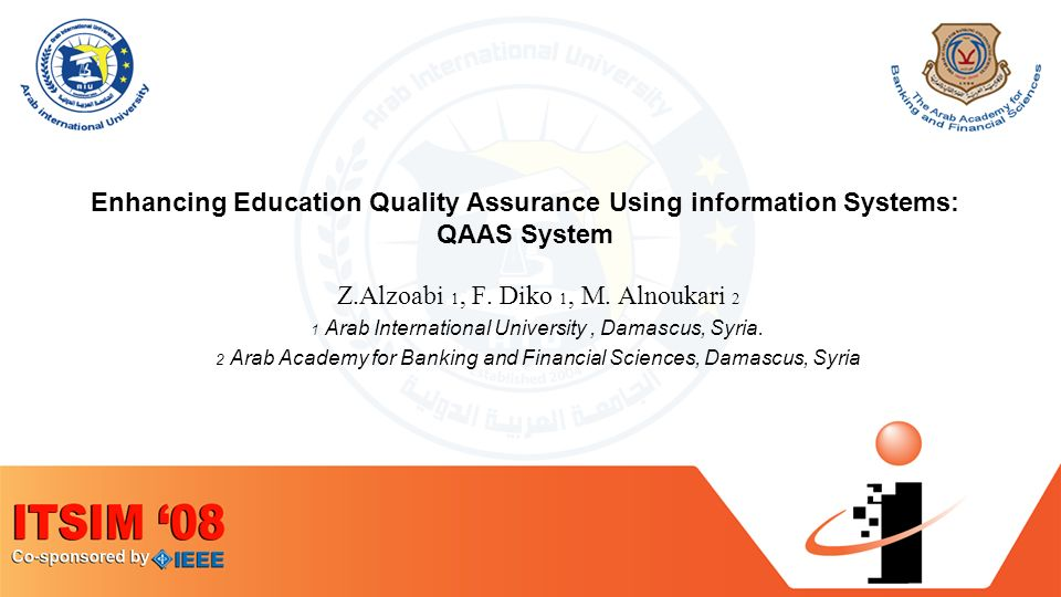 Plan Introduction What is Quality Assurance in Higher Education.