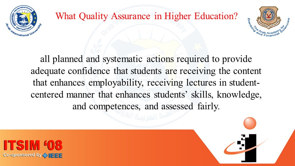 What Quality Assurance in Higher Education.