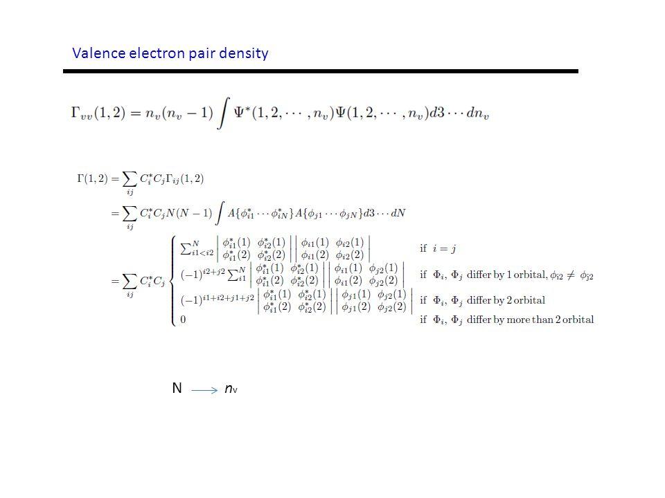 Valence electron pair density N n v