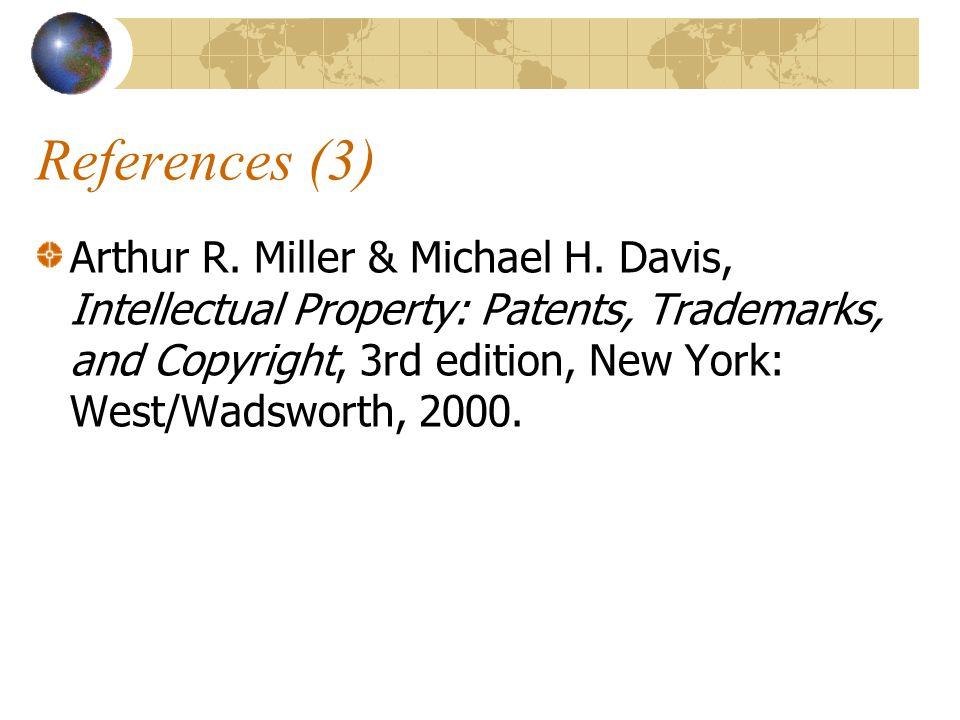 References (3) Arthur R. Miller & Michael H.