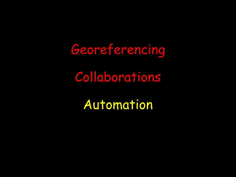 Georeferencing Collaborations Automation