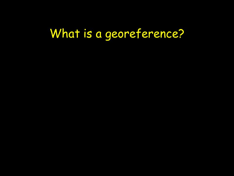What is a georeference