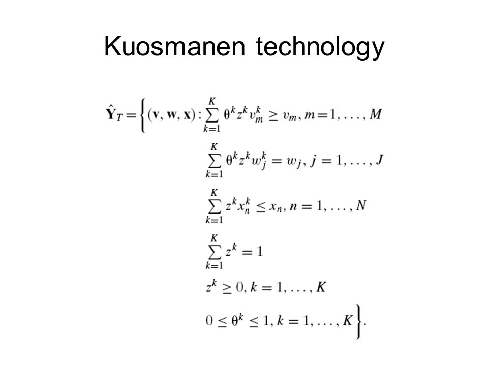 Kuosmanen technology