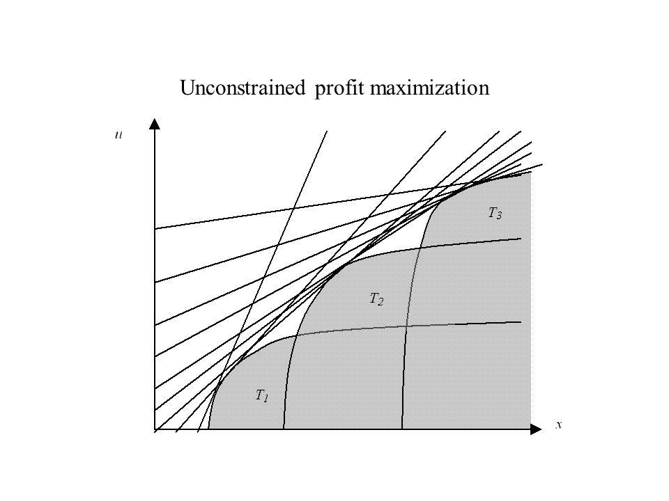 Unconstrained profit maximization