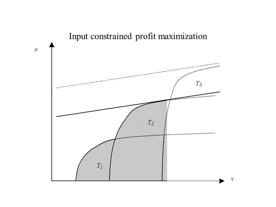 Input constrained profit maximization
