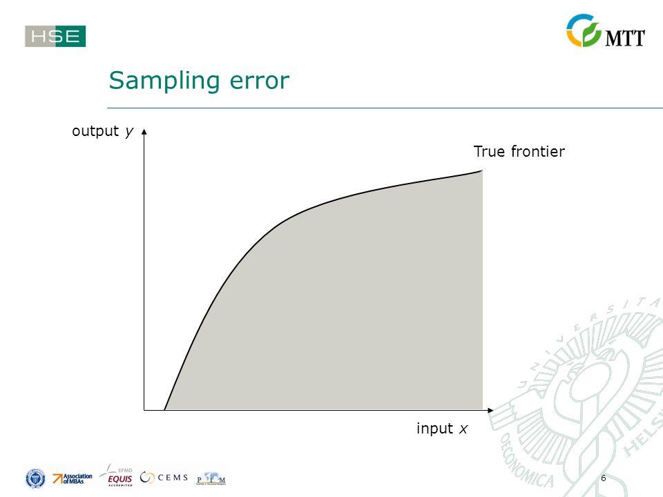 6 Sampling error True frontier input x output y