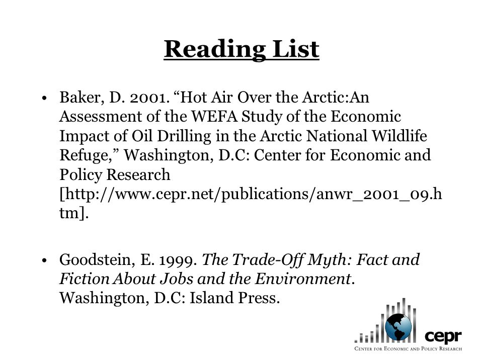 Reading List Baker, D. 2001.